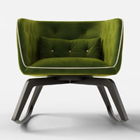 armchair rocking 3D model