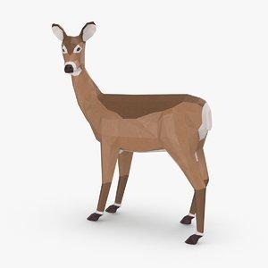 3D model doe---standing