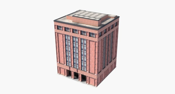 city building office library 3D model