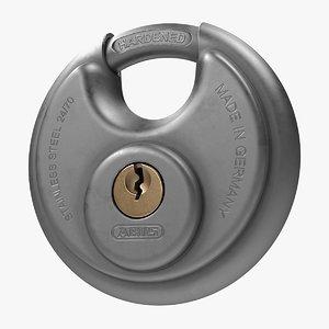 disc padlock 3D