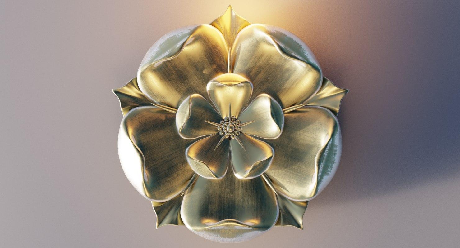 Gold Tudor Rose