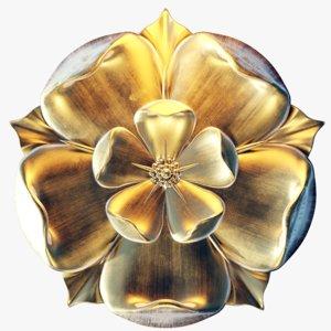 tudor rose gold 3D