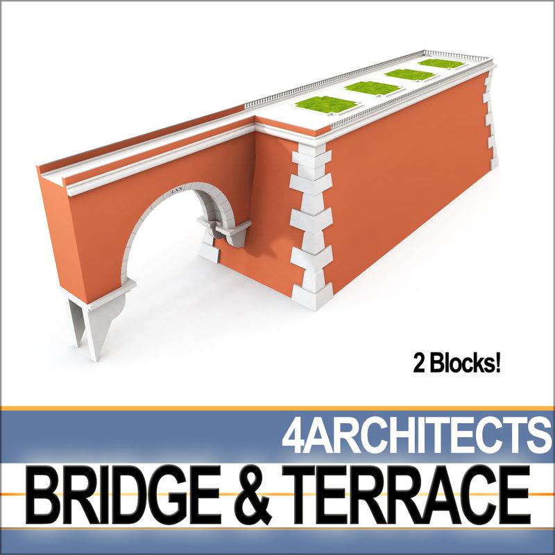 3D bridge terrace