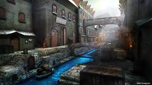 river town 3D model