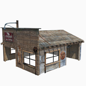 3D old garage