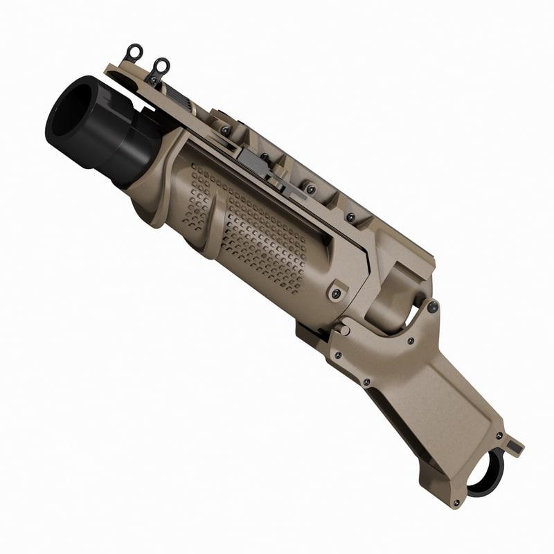eglm ares scar grenade launcher 3D model