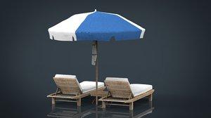 beach chair umbrella model