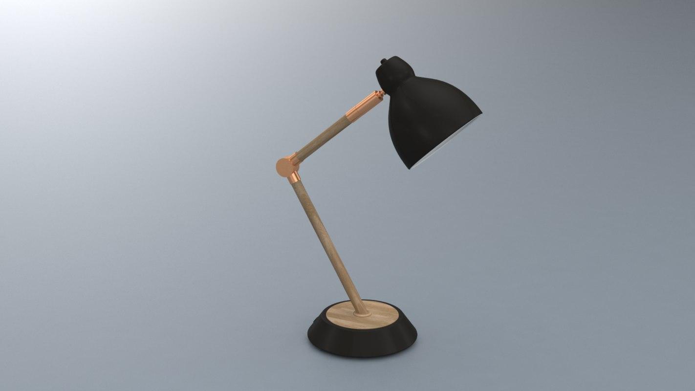3D model modern desk lamp