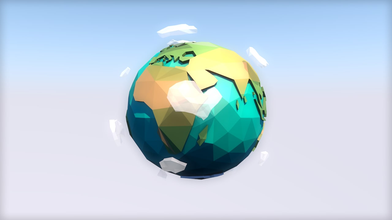 world countries water 3D