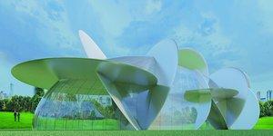 3D building modern