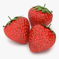strawberry 01 3D model