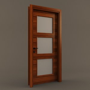 ebony wooden door 3D model