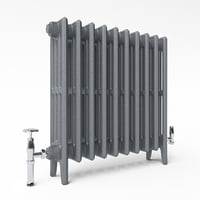 Beaumont - Victorian 4 (RA 4645) cast iron radiator