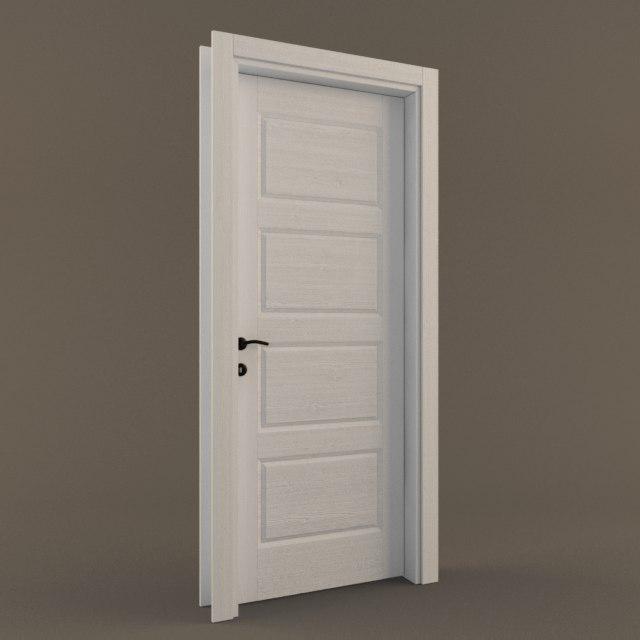 white door 3D model