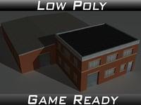 3D factory building 23 model