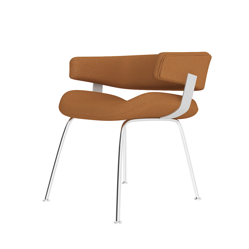 brown office chair 3D
