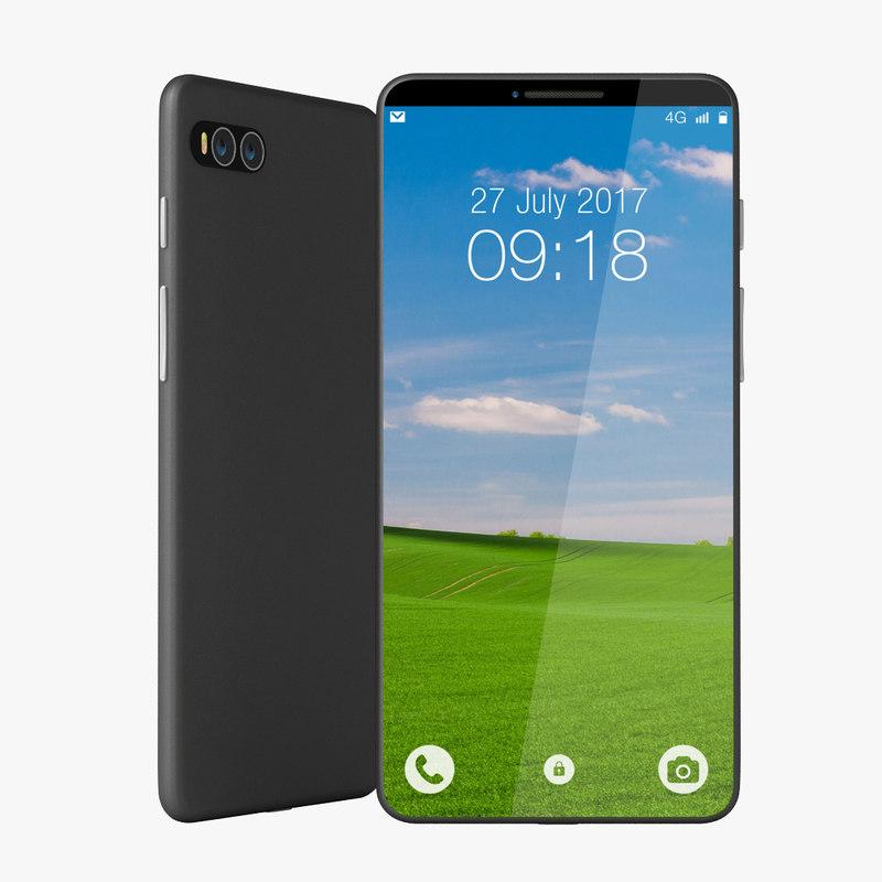 original generic bezel phone 3D model