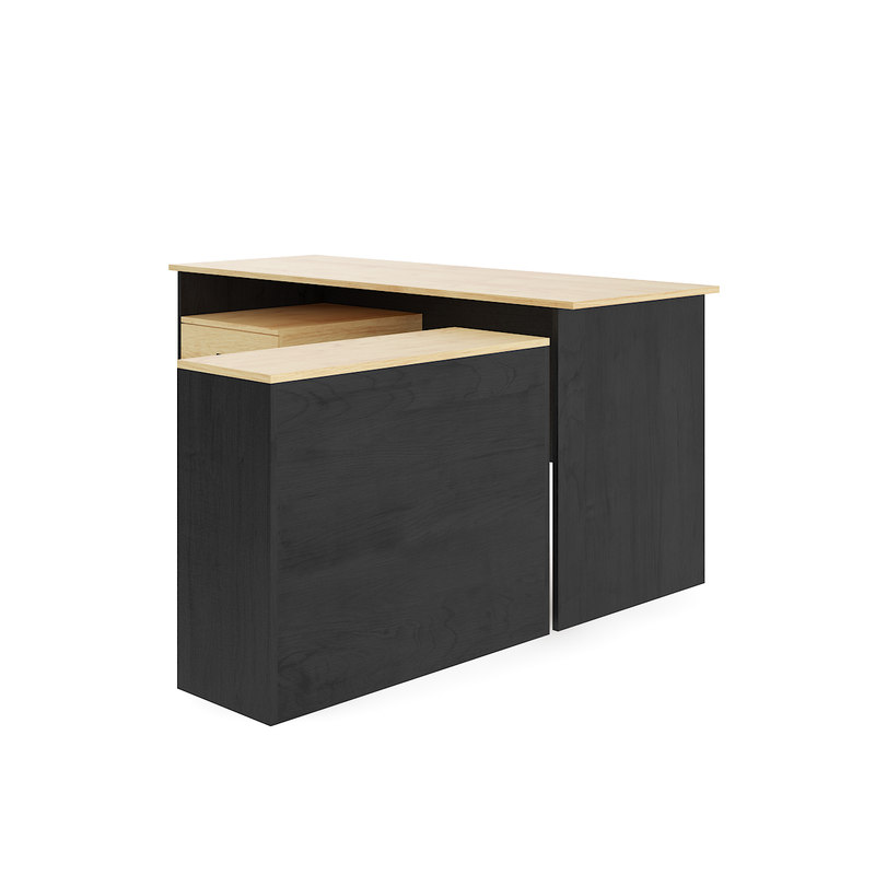 3D wooden desk cabinet model