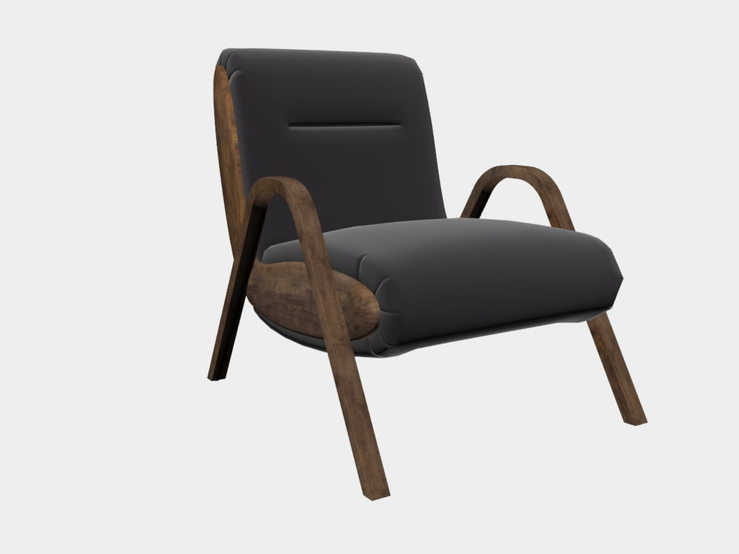 camden lounge chair kelly 3D model
