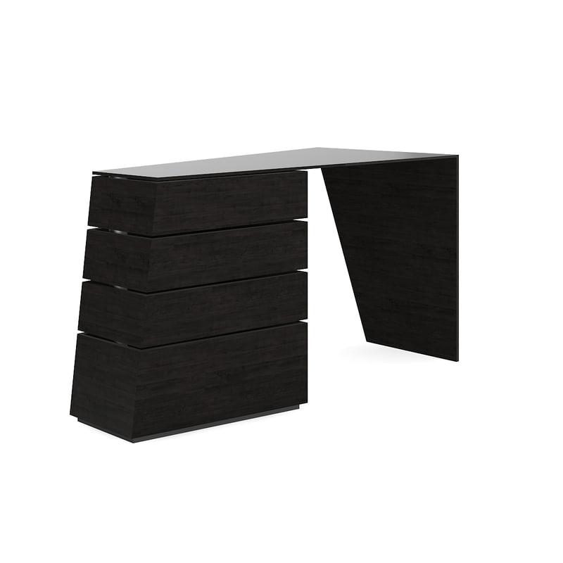 3D modern dark desk model