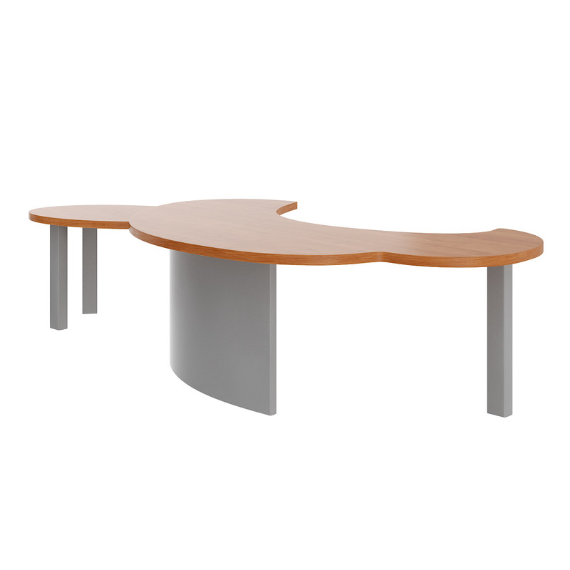 large office desk 3D model