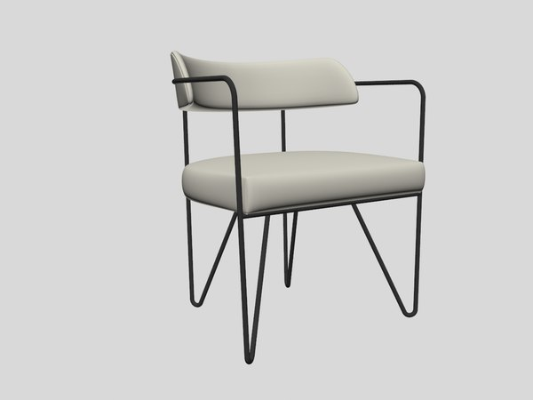 3D martel chair - linen model
