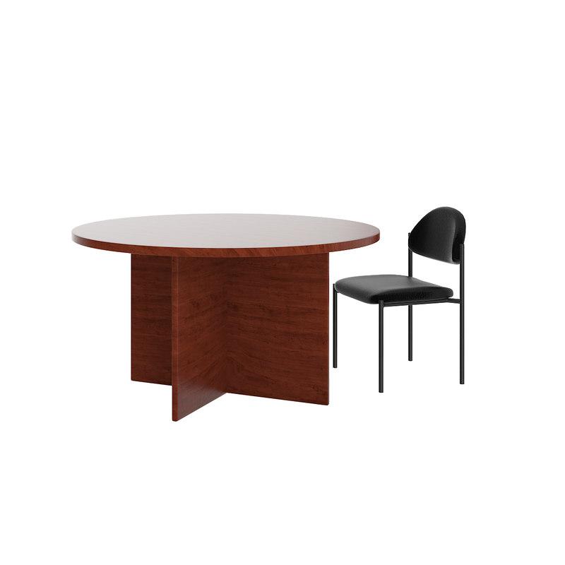 3D table black chair model