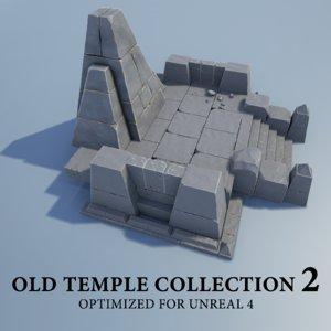 3D stone blocks 2 model