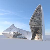 futuristic building 2 3D