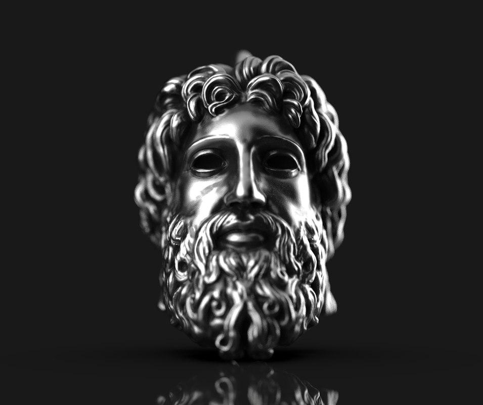 3D model zeus pendent