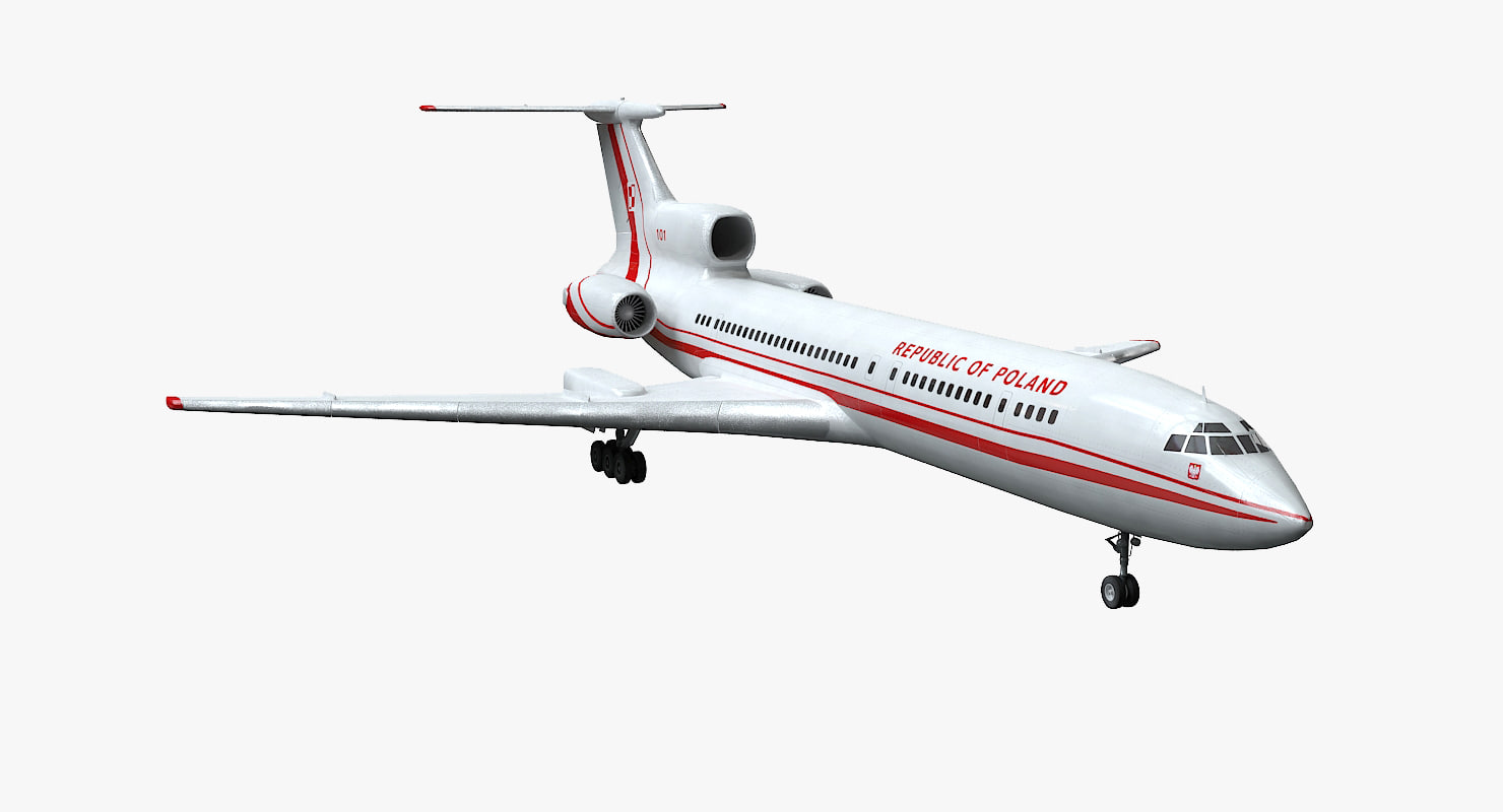 tu-154m poland pbr 3D model