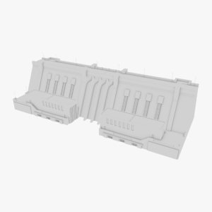 hydroelectric dam 1 3D
