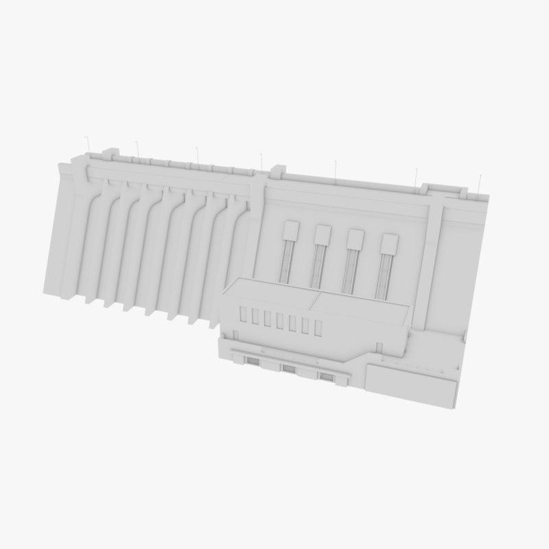 3D model hydroelectric dam