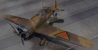 3D plane fokker d-xxi d-21 model