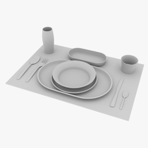 place setting 5 model