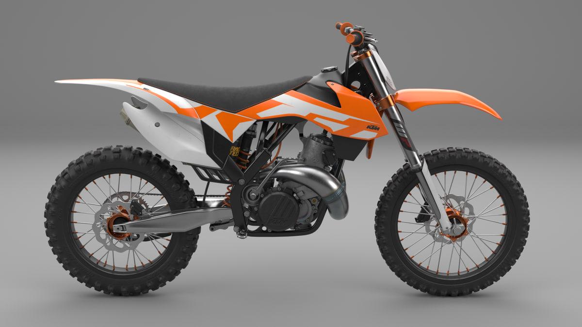 ktm sx motocross bike 3D