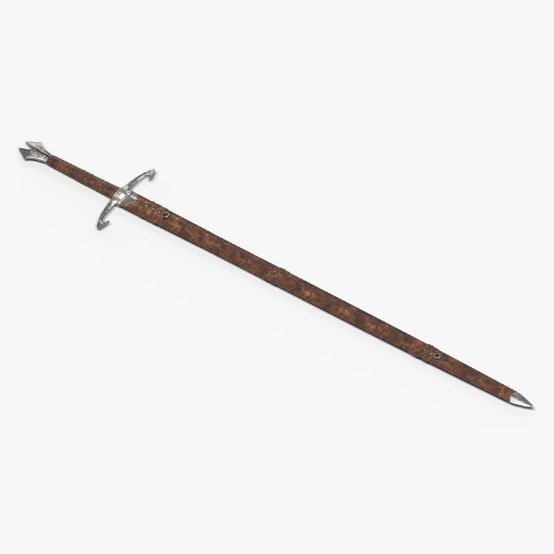 3D handed sword scabbard