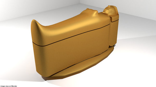 3D model coffin egyptian