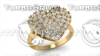188 Heart Diamond Ring