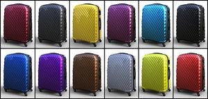 trolley suitcase bag 03 3D model