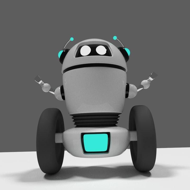 3D small robot white