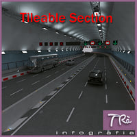 3D highway tunnel section