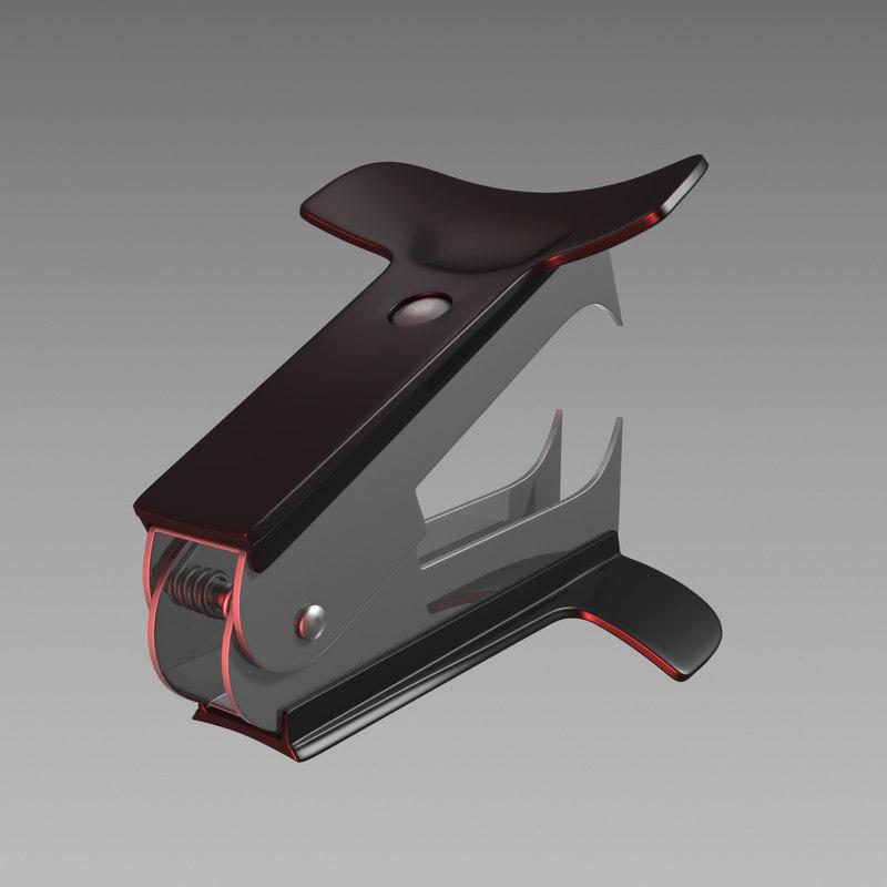 3D stapler remover model