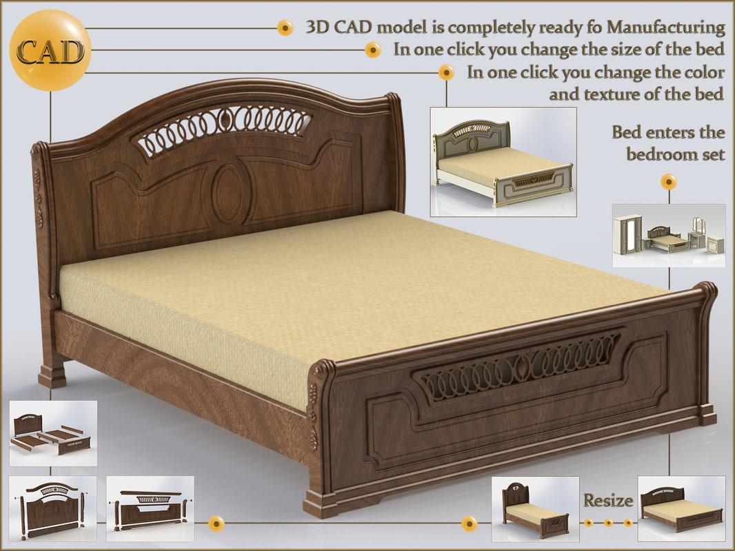 cad bed model
