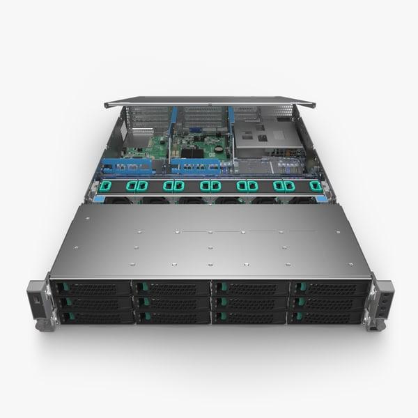 3D cpu server board model