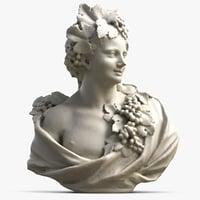 woman bust 3D model