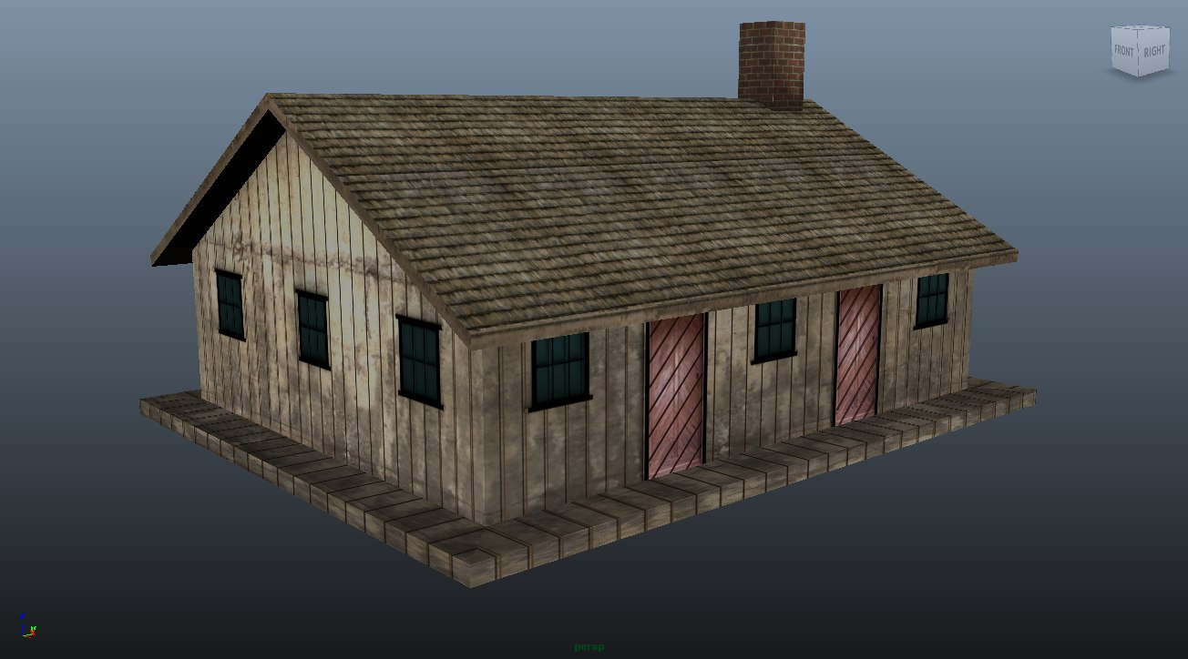 3D model farmhouse01