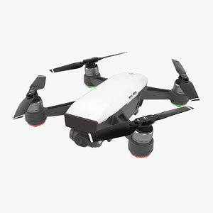 dji spark mini drone 3D model