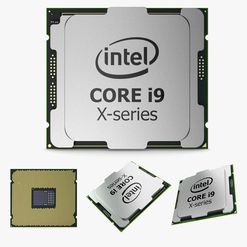 intel core i9 x-series 3D model