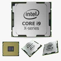 intel core i9 x-series 3D model